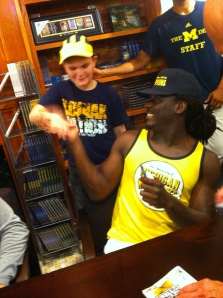 Connor with Denard